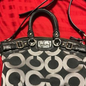Coach Bags - Coach 'Mini' Handbag, Black & Silver Crossbody 💕